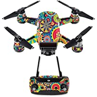 Skin for DJI Spark Mini Drone Combo - Flower Wheels| MightySkins Protective, Durable, and Unique Vinyl Decal wrap cover | Easy To Apply, Remove, and Change Styles | Made in the USA