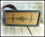 Cheap Coffee Bar Sign Rustic Kitchen Decor Country Home Cafe Plaque