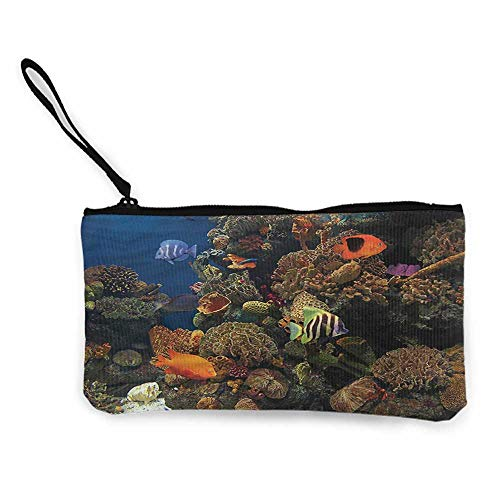 Coin purse womens Ocean,Colorful Sponge and Corals,Wallet Coin Purses Clutch W 8.5