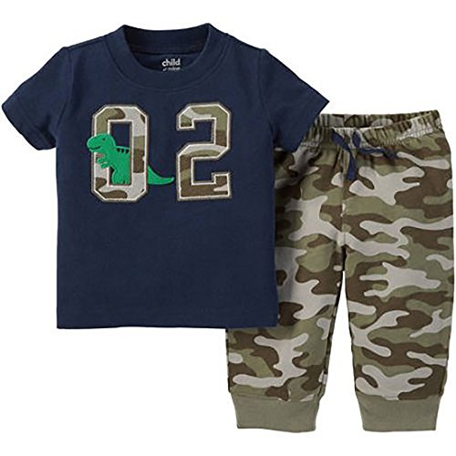Boy Carters 2 Piece Camo (Child of Mine by Carters Newborn Baby Boy Shirt and Pant Outfit (0-3(8/12.5 lbs),)
