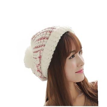 5ef628db789 AccessoryStation® Fashion Korean Winter Women Lady Warm Knitting Cotton with  Vertical Stripe Pattern Hat Ski
