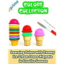 Learning Colors with Yummy Ice Cream Cones Playsets in Creative Lesson