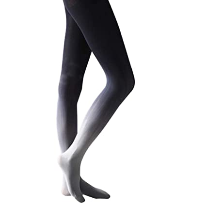 c6a0e453a6f Image Unavailable. Image not available for. Color  Women Sexy Hose Gradient  Slim Watercolour Pantyhose ...