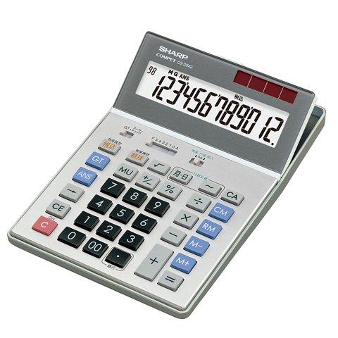 シャープ 経理仕様電卓 5年間保証 早打ちアンサーチェック機能搭載 デスクトップタイプ 12桁 CS-D942 B000BD39R2