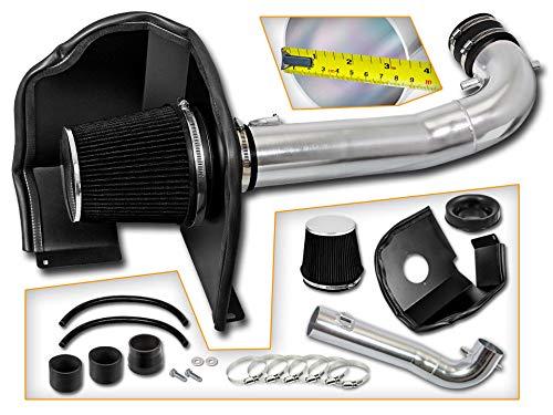 R/&L Racing BLACK 14-19 For Silverado Sierra 1500 V8 Heat Shield Cold Air Intake Filter