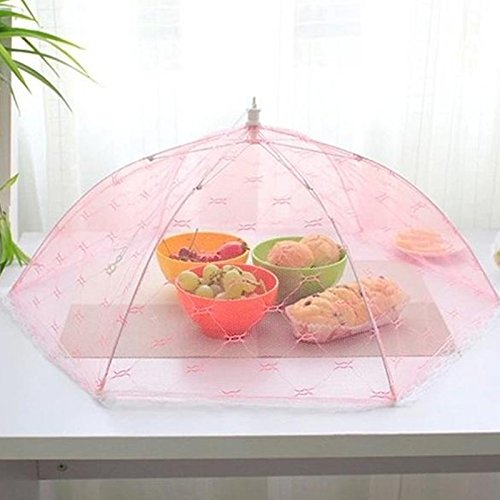 Tyro Abdeckung für Lebensmittel, sechseckig, Regenschirm-Stil, Anti-Fliegenmücken, Küchenutensilien, Esstischabdeckung, Esstischabdeckung, Futter