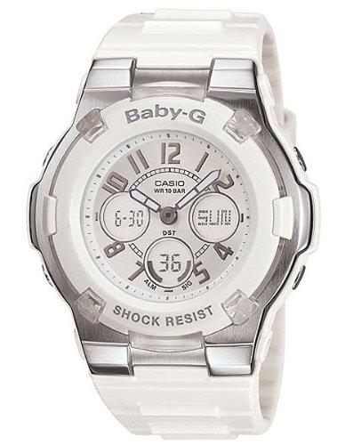 Casio Women's BGA110-7B Baby-G Shock-Resistant White Sport (Casio G Shock Watches Women)
