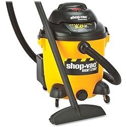 9625110 Shop-Vac Compact Vacuum Cleaner - 3.73 kW Motor - 8.90 A - 350 W Air Watts - 12 gal - Yellow, Black
