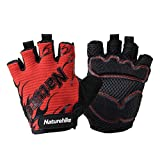OLSUS Road Cycling Air Permeable Wear-proof Sports Gloves Half-finger Cycling Gloves - Red + Black (XL)