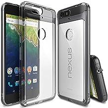 Nexus 6P Case - Ringke FUSION [Smoke Black] ** Shock Absorption TPU Bumper Drop Protection **[FREE HD Screen Protector] Premium Crystal Clear Hard Back [Anti-Static][Scratch Resistant] for Huawei Nexus 6P