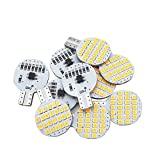 Grv T10 LED Light Bulb 921 194 192 C921 24-2835 SMD Super Bright Lamp DC 12V 2.5 Watt For Car RV Boat Ceiling Dome Interior Lights Warm White (2nd Generation) Pack of 10