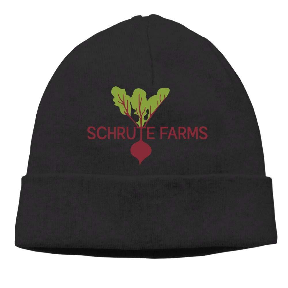 Oopp Jfhg Beanie Knit Hats Ski Caps chrute Farms Beets 7 Men Black
