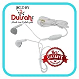 Duisah Samsung Galaxy A9 Pro YS Handsfree Universal Earphone with 3.5 mm Jack and Mic- White