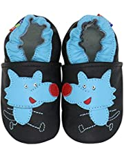 Carozoo Christmas Boys/Girls 0-6M up to 8 YRS Soft Sole Leather Shoes Slippers Socks(22 Designs)