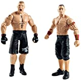 WWE Summer Slam Toy - John Cena and Brock Lesnar Action Figure 2 Pack - Raw Smackdown Wrestling