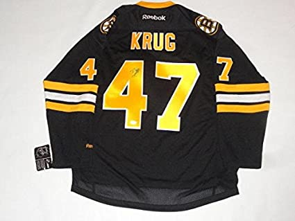 reputable site ba502 9f77c Torey Krug Autographed Jersey - Alternate Licensed Coa Proof ...