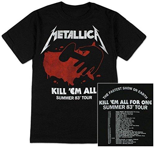 Metallica - Kill Em All Summer 83 T-Shirt Size L (Metallica Jump In The Fire T Shirt)
