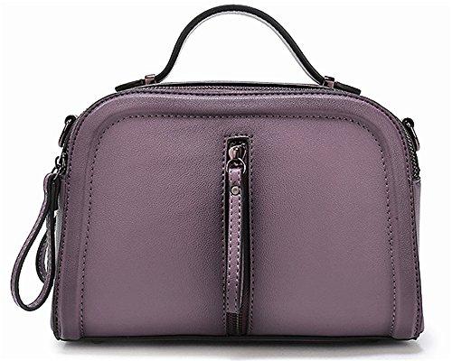 La mujer Xinmaoyuan bolsos moda bolso de cuero color Spray solo hombro Paquete Diagonal Cowhide señoras bolso Violeta