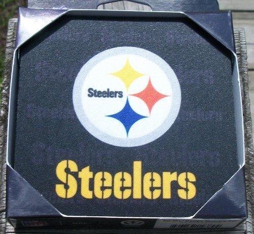 NFL Pittsburgh Steelers Neoprene Coaster, 4-Pack (Pittsburgh Coaster Set Steelers)