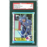 Michel Goulet Autographed Quebec Nordiques Encapsulated Trading Card - Certified Authentic