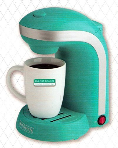 Kitchen Selectives Single Serve Coffee Maker, Teal Green