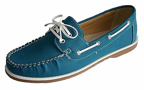 Mujer Coolers Nobuk Falso Mocasines Piel Con Cordones Zapatos Náuticos Tallas 4 - 8: Amazon.es: Zapatos y complementos