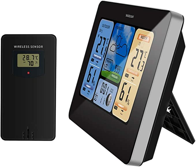 Sunlera - Estación meteorológica Digital inalámbrica para Interior ...