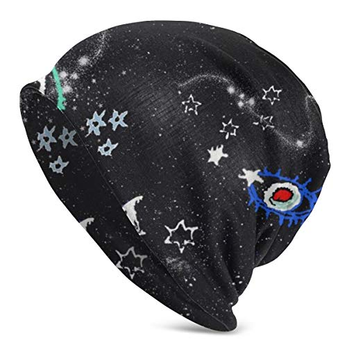 Solar System Planets Stars Milky Way Men Women Beanie Hat Slouchy Lightweight Warm Unisex Knit Hats Skull Cap Black (Best Way To Highlight Hair At Home With Cap)