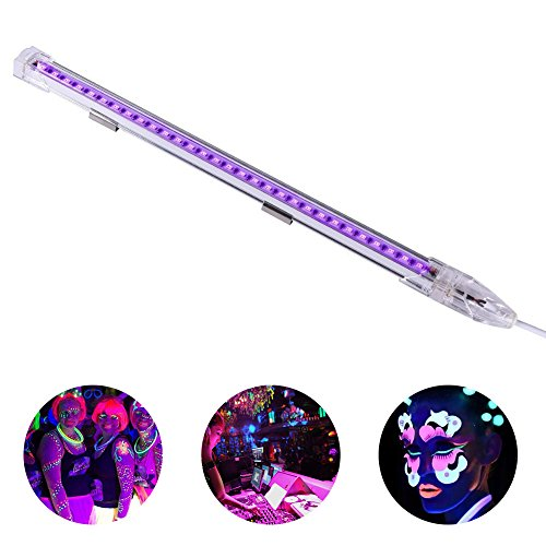 Viugreum UV Black Lights LED Bar,9W Portable Blacklight Fixture for Blacklight Poster,Halloween UV Art,Christmas,Party,Festivals,Ultraviolet Curing,uthentication Currency,Stain Detector Blacklight Bar