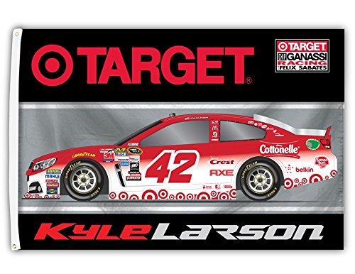 (Kyle Larson #42 2016 3x5 CAR Design Flag w/grommets Outdoor Banner Nascar)