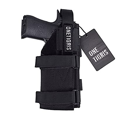 OneTigris 1000D Nylon Tactical Molle Pistol Holster Belt Leg Holster for 1911 45 92 96 Glock