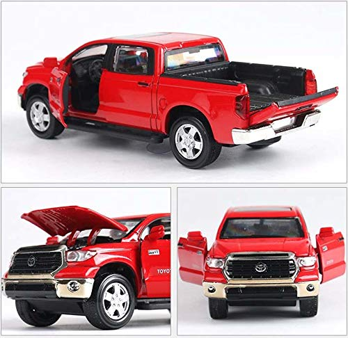GreenSun 1:32 Toyota Tundra Pickup Alloy car Model diecast Metal with Pull Back Flashing Musical Kids Gifts