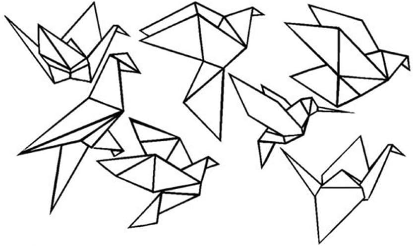 Pegatina de pared de pájaro plegable de siete piezas vinilo ...