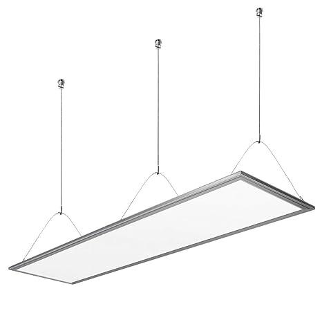 LE Panel LED 36W = 80W Fluorescente Blanco Cálido 3000K 2700lm, Luz ...