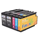 FiMax 1Set+1BK 5Packs New Updated Replacement for HP 950XL&951XL Black & Color Inkjet Ink(HP Officejet Pro 8600 8610 8620 8630)