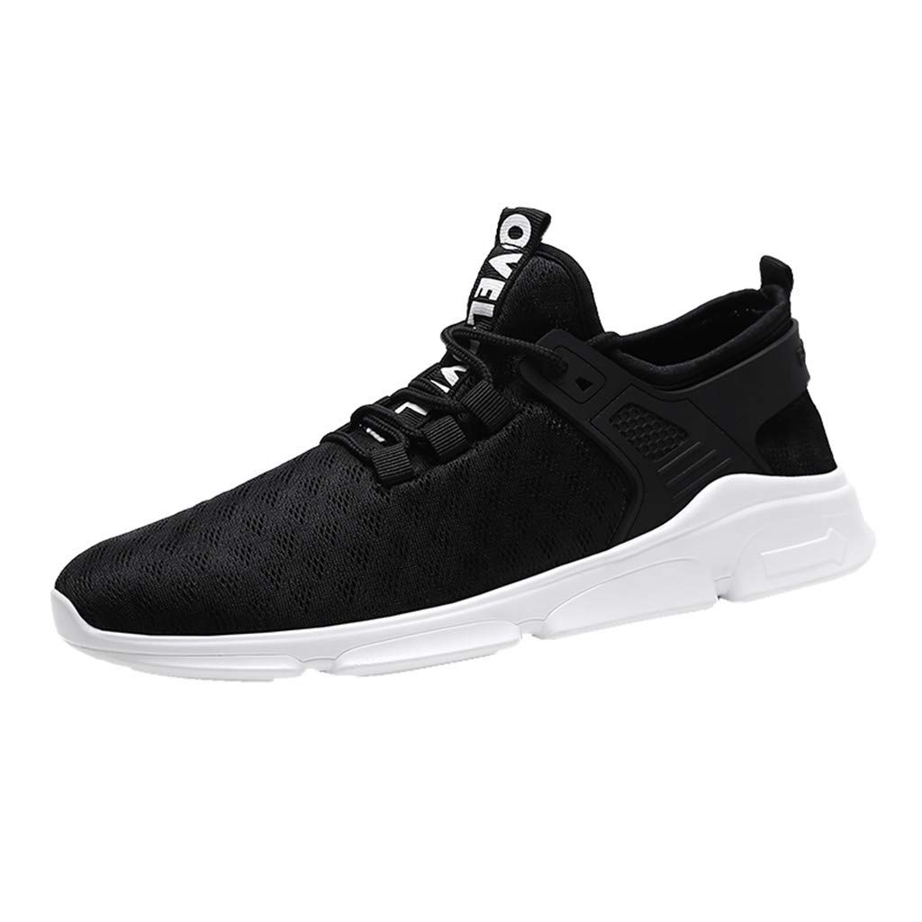 refulgence Men's Autumn Winter Casual Shoes Fashion Non-Slip Sneakers Mesh Breathable Shoes (Black,US:7.5) by refulgence