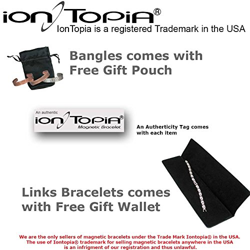 IonTopia Hermes Titanium Magnetic Therapy Bracelet Gold Plated with Free Links Removal Tool by IonTopia (Image #6)