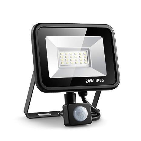 PIR LED10W Flood Light Sensor Outdoor Garden Security Spotlight Warm White Light