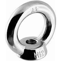 Dutyhook M12 Opheffende Oogmoer DIN 582 vorm, Roestvrij staal AISI 316