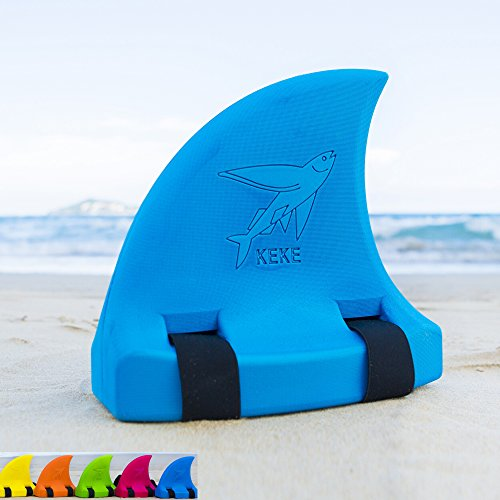 - Swim Float for Kids, Shark Fin, Learn to Swim, Safety and Training, Fun Pool Toy Trainer - Blue