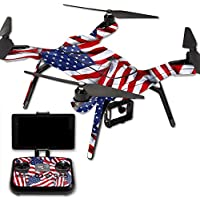 MightySkins Protective Vinyl Skin Decal for 3DR Solo Drone Quadcopter wrap cover sticker skins Patriot