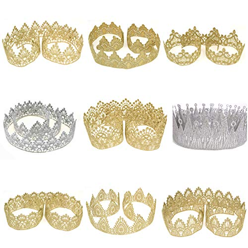 Star Quality Golden Crown Lace for Baby and Grown up DIY Craft Crown | Craft Lace for Princess, Prince and Doll's Crown (1 Yard, King of King Crown -