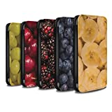 STUFF4 PU Leather Wallet Flip Case/Cover for Apple iPhone X/10 / Pack 18pcs Design / Juicy Fruit Collection
