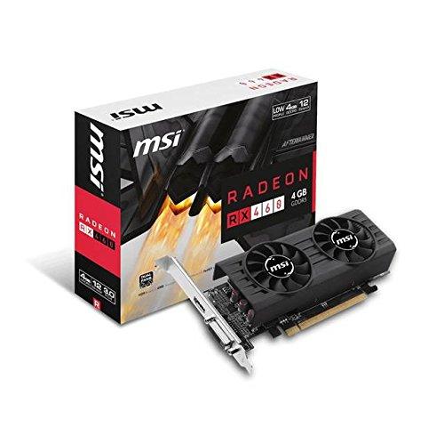 AMD Radeon  4GB GDDR5 DVI/HDMI Low Profile PCI-Express Video Card - MSI RX 460 4GT LP