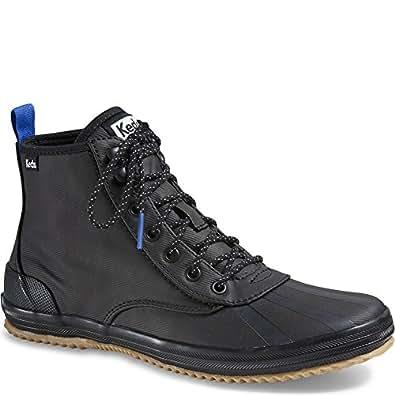 Keds Women's Scout Splash Wx Fashion Sneaker, Black, 6 M US