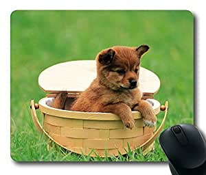 Cute Dog Playing Masterpiece Limited Design Oblong Mouse Pad by Cases & Mousepads