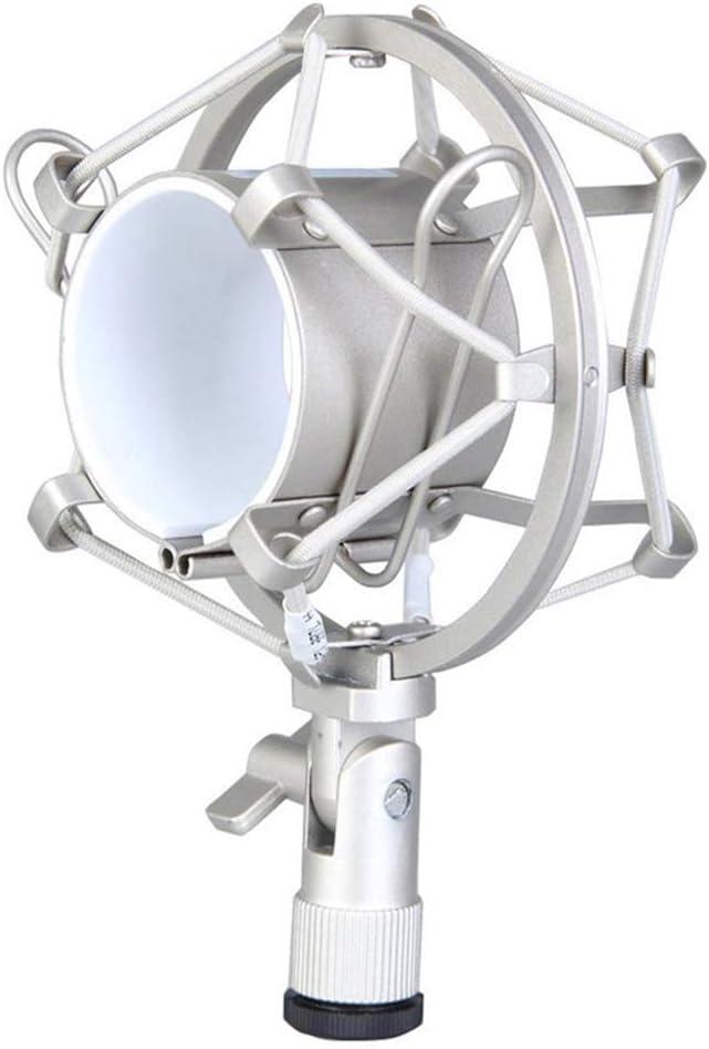 Goodplan Mikrofon Shock Mount Mic Sto/ßd/ämpferhalter Kondensatormikrofon Zubeh/ör Silber 1 Stck