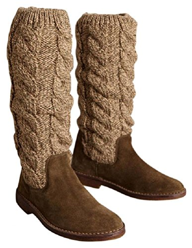 Misses Cable Knit (Anthropologie Miss Albright Cableknit Boots Sz 38 / 8 - NWOB(8))