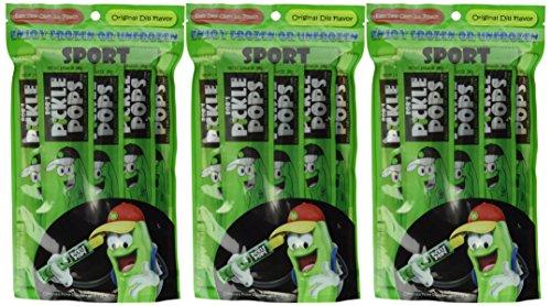 BOB'S PICKLE POPS Original Dill Flavor 6 Pops per Pack (Pack of 3 for 18 Tota...