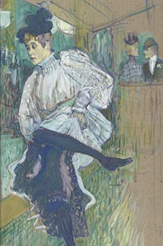 Henri Toulouse Lautrec Jane Avril - Art Journal: Henri de Toulouse-Lautrec - Jane Avril Dancing - Art Cover College Ruled Notebook | 110 Pages